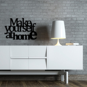 Napis na ścianę MAKE YOURSELF AT HOME2 czarny MYAH2-1